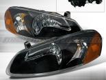 Передняя оптика для Chrysler Sebring 01-04 Black: Spec-D