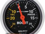 """AutoMeter 2"""" Boost-Vac, 30 In. Hg/20 Psi [ATM-3301]"""