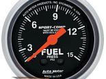 "AutoMeter 2"" давления топлива, 0-15 Psi [ATM-3313]"