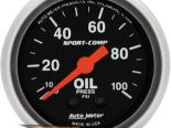 "Autometer Sport Comp 2 1/16"" Mechanical 0-100 PSI давление масла Датчик"