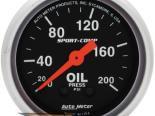 "Autometer Sport Comp 2 1/16"" Mechanical 0-200 PSI давление масла Датчик"
