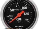 "Autometer Sport Comp 2 1/16"" Mechanical 0-150 PSI давление масла Датчик"