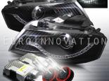 Передние фары для Audi A3 06-09 Euro Devil Eye DRL Projector 6000K Xenon HID Black