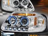 Передние фонари для FORD F150 97-03 HALO STRIP PROJECTOR CHROME