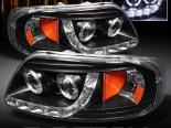 Передние фонари для Ford F150 97-03 DUAL HALO PROJECTOR BLACK