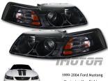Передние фонари для Ford Mustang Projector 99-04 Чёрный