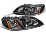 Передние фонари для Ford Mustang 95-98 Чёрный