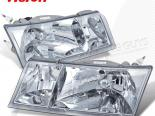 Передние фары для MERCURY GRAND MARQUIS 98-02 EURO CLEAR CHROME