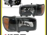 Передняя оптика для NISSAN PATHFINDER 99-04 OE TYPE CLEAR BLACK