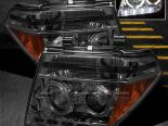 Передние фары для NISSAN PATHFINDER 05-08 HALO PROJECTOR SMOKE