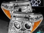 Передняя оптика для NISSAN FRONTIER 05-08 HALO DRL PROJECTOR Chrome