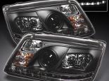 Передние фонари на  Volkswagen JETTA 1999-2005 DRL PROJECTOR Чёрный