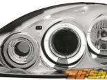 Передняя оптика на Opel Corsa C Halo Angel Eyes chrome 1