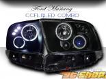 Передняя оптика для FORD MUSTANG GT 05-08 CCFL+оптика в бампер