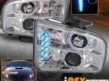 Передние фонари на Ford Mustang GT 2005-2009 HALO Projector