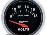 "AutoMeter 2-5/8"" вольтметр, 8-18 Volts [ATM-3592]"