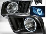 Передние фары для Ford Mustang 05-09 Halo Projector CCFL Чёрный : Spec-D