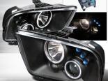 Передняя оптика на Ford Mustang 05-09 Halo Projector Чёрный : Spec-D