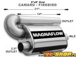 5in.x8in. Oval muffler Single/Dual - Camaro/Firebird V6