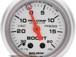 """AutoMeter 2"""" Boost, 30 In. Hg/20 Psi [ATM-4301]"""