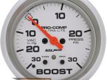 """AutoMeter 2-5/8"""" Boost-Vac, 30 In/Hg 30 Psi [ATM-4477]"""
