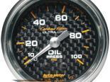 """Autometer Карбоновый 2 1/16"""" Mechanical 0-100 PSI давление масла Датчик"""