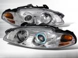 Передние фары для Mitsubishi Eclipse 97-99 Halo Projector Хром: Spec-D