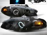 Передние фары для Mitsubishi Eclipse 97-99 Halo Projector Чёрный : Spec-D