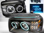 Передние фонари для Nissan Frontier 01-04 Halo Projector Чёрный V2