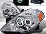 Передние фары на Nissan Versa 07-08 Halo Projector Хром: Spec-D