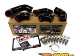HPS Silicone Intercooler Turbo Комплект патрубков Чёрный для Mitsubishi Lancer EVO 8 US-Spec