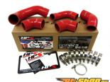 HPS Silicone Intercooler Turbo Комплект патрубков Красный для Mitsubishi Lancer EVO 8 US-Spec