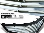 Решётка радиатора Чёрный Хром для Honda Fit 2010-2012