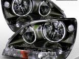 Передние фонари на Lexus RX300 01-03 CCFL Halo JDM Black Crystal