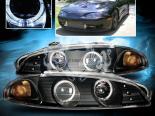 Передняя оптика на Mitsubishi Eclipse 97-99 Angel Eye Halo Projector Чёрный