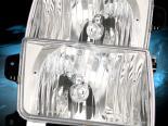 Передние фары на Nissan Frontier 98-02 Кристалл Хром