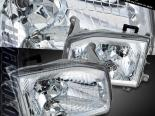 Передние фары на NISSAN PATHFINDER 1999-2004  EURO CLEAR CHROME
