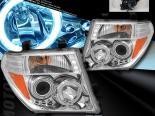 Передняя оптика на Nissan Pathfinder 05-07 Twin CCFL Halo Projector Хром