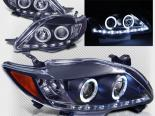 Передние фонари на Toyota Corolla 09+ Halo Projector Black