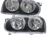 Передняя оптика на Volkswagen Golf 3 93-98 DEPO Чёрный