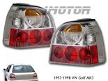 Задняя оптика для Volkswagen Golf 92-98 Euro Clear Хром