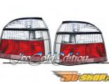 Задние фары на Volkswagen Golf 94-98 Euro Красный Clear