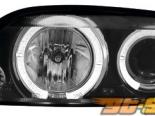 Передняя оптика на Opel Vectra B 99-02 Halo Angel Eyes black 1