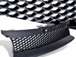 Чёрная решётка радиатора Honeycomb Стиль для Volkswagen Golf IV 1998-2004