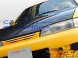 Карбоновый капот на Nissan 240SX 95-96 стандартный Стиль