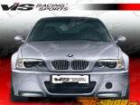 Губа на передний бампер для BMW E46 1999-2005 CSL Карбон