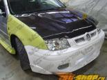 Карбоновый капот на Volkswagen Jetta 1999-2005 Invader Стиль
