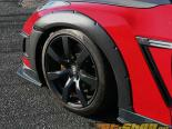 ChargeSpeed Bottom Line Gloss Карбон 15mm передний  Over Крылья CFRP пара Nissan GTR R35 09-12