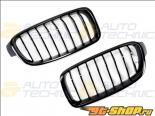 AutoTecknic Replacement ABS Gloss Чёрный передний  Kidney Grilles BMW F30 | F31 | 3 Series 12-14