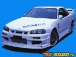 BOMEX передний  бампер 01 Nissan Skyline Coupe R34 99-02